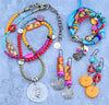 Fun Colorful Bohemian Gypsy Turquoise, Red, Pink and Yellow Jewelry Collection