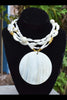 Gorgeous Summer White and Gold Shell and Pearl Statement Necklace