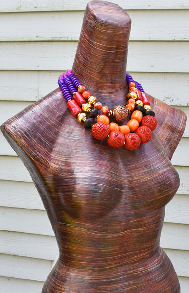Gorgeous Bold Statement Necklace Commissioned for an Art Gallery Event $500