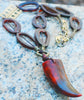 Bold and Exotic African Horn Link and Pendant Statement Necklace