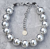 Must Have Classic Bold Wear Everywhere Silver Ball Choker Necklace