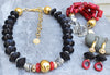 Elegant Black, Red, Gold and Silver Statement Jewelry Collection