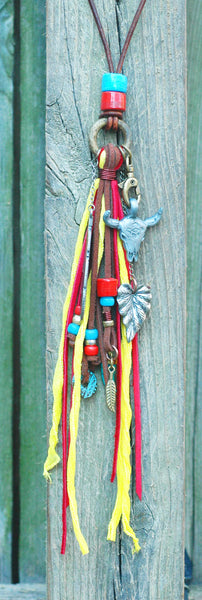 Bohemian Leather Fringe Southwest Inspired Necklace
