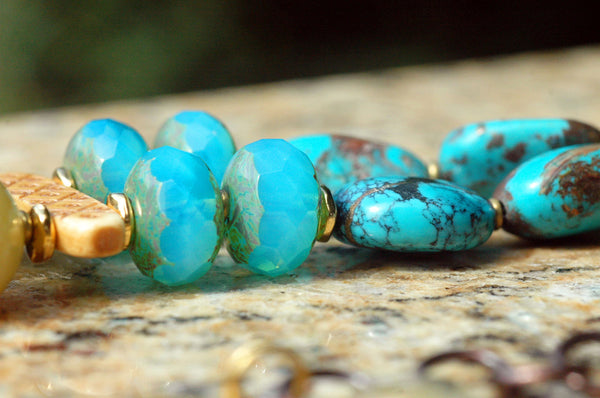 Jade Dragon Necklace | Turquoise and Jade Bold Statement Necklace