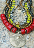 Christmas Necklace | Red, Green, Black, Gold | XO Gallery