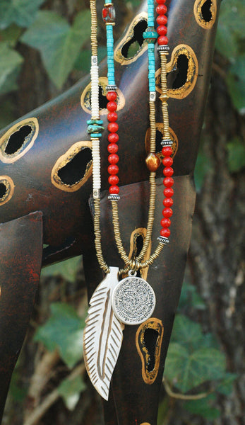 Get the long and layered bohemian look with these boho-chic necklaces