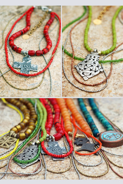 Everyday Necklaces: Long Custom Tribal Bohemian Pendant Necklaces