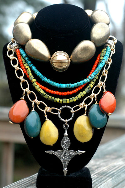 Bold Exotic Funky Bohemian Chic Modern Tribal Statement Jewelry