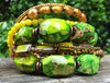 Green Jasper Bracelet | Multi-strand, beaded, tribal style statement