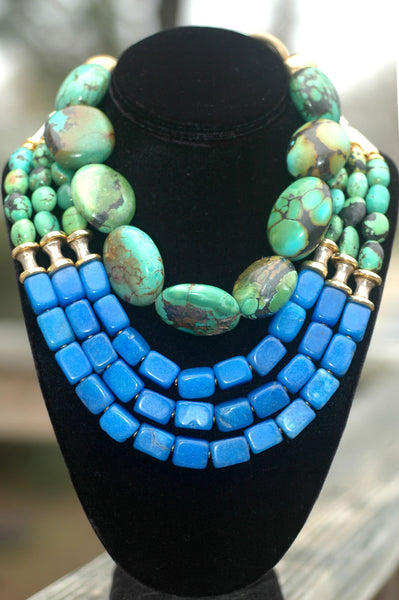 Gorgeous Handcrafted Artisan Turquoise Statement Jewelry
