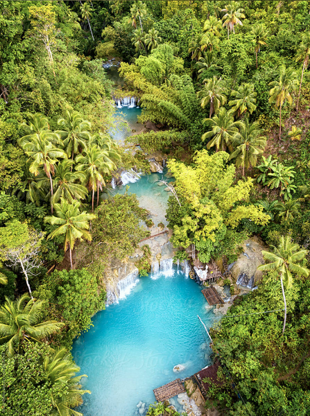 Cambugahay Falls in Siquijor, Philippines