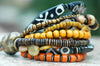 Tribal Statement Bracelet | Brown, Amber, Bone Bohemian Bracelet