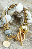 Holiday White & Gold Bracelet | Holiday Jewelry | XO Gallery