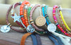 Everyday Glass, Mixed Metal and Leather Friendship Bracelets