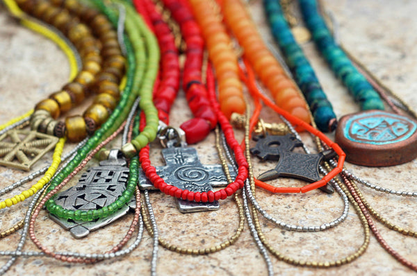 Everyday Necklaces: Long Tribal Bohemian Pendant Necklaces