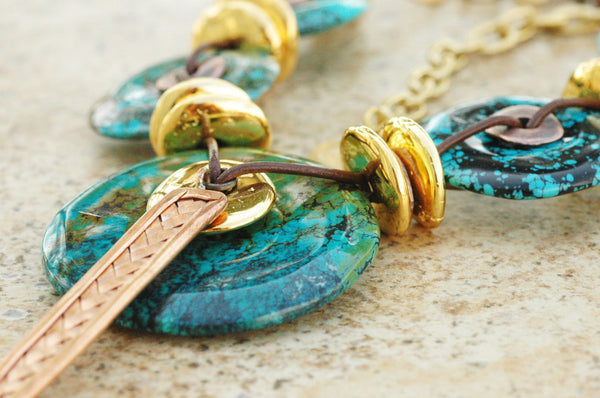 stunning turquoise pendant necklace