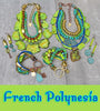 Summery Green and Blue French Polynesia Jewelry Collection