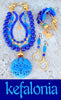 Surreal Sapphire Blue, Lapis Lazuli, Cerulean Jade and Gold Grecian Inspired Jewelry Collection