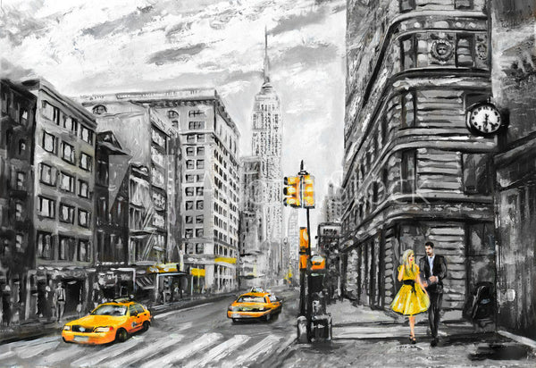 streets of new york oil painting