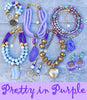 pretty in purple periwinkle, purple, lavender, gold jewelry collection