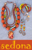 enchanting sedona inspired rustic orange, sky blue, green and yellow artisan jewelry collection