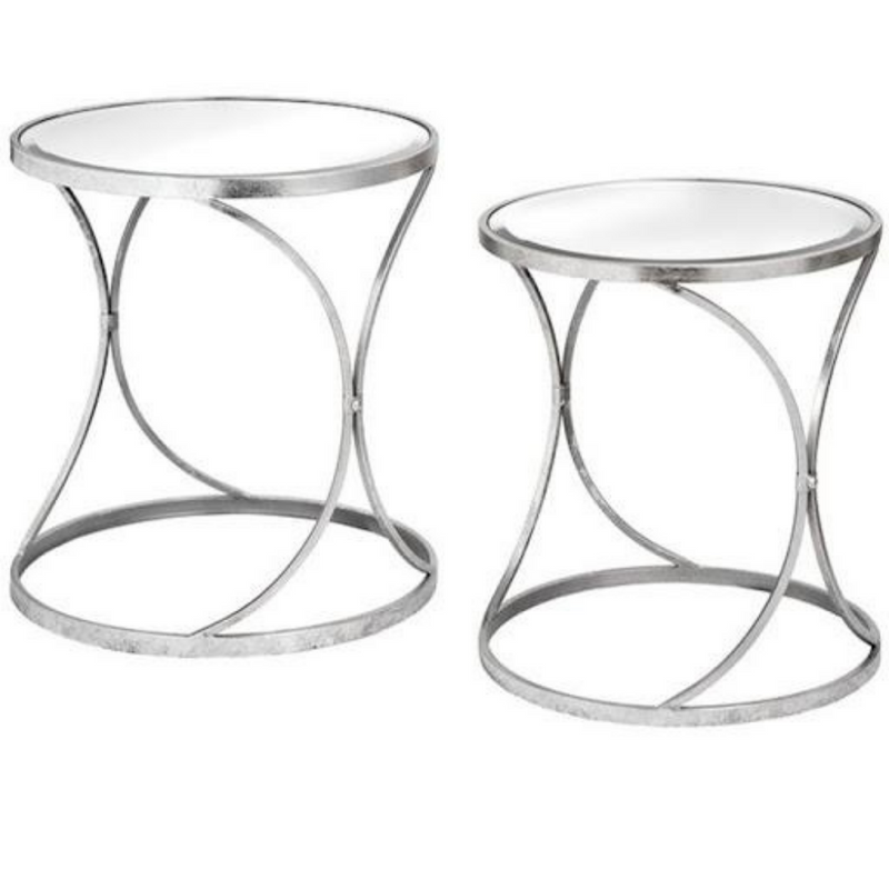 Silver Side Tables, Set of 2