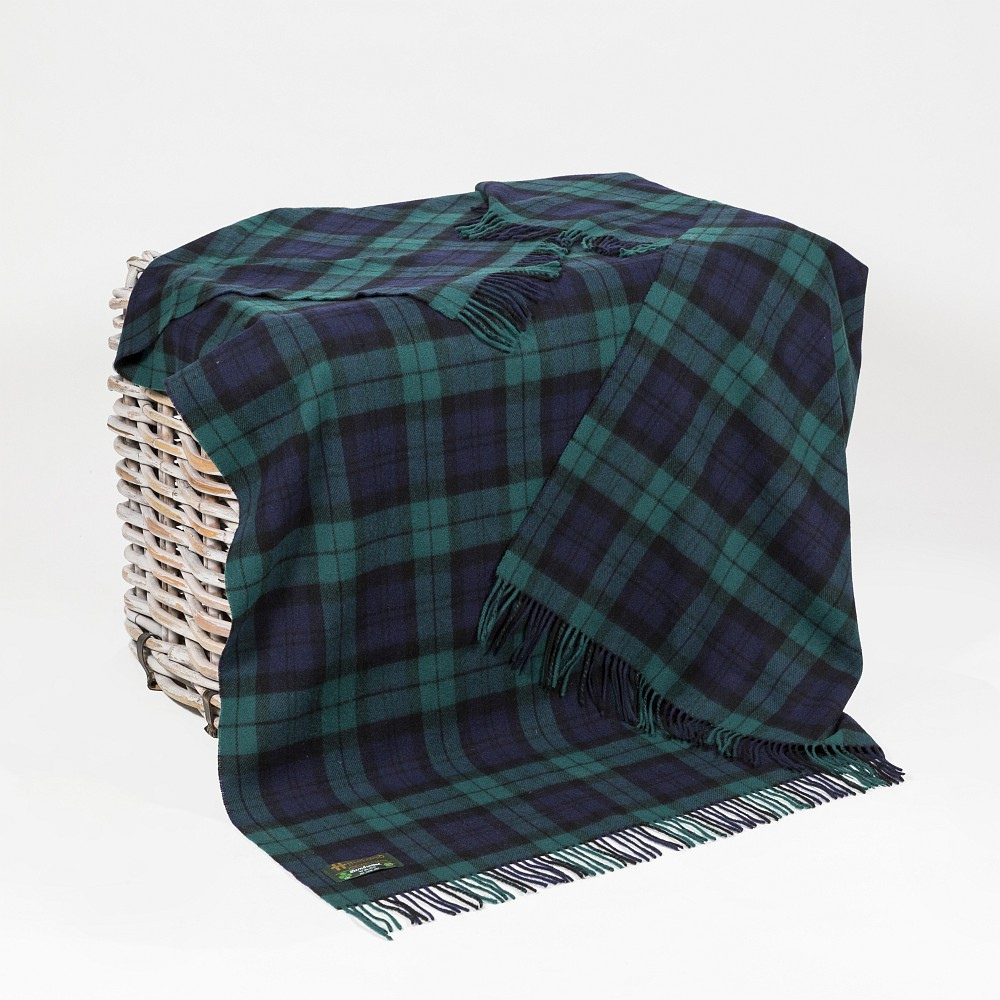 Lambswool Throw Black Watch Tartan