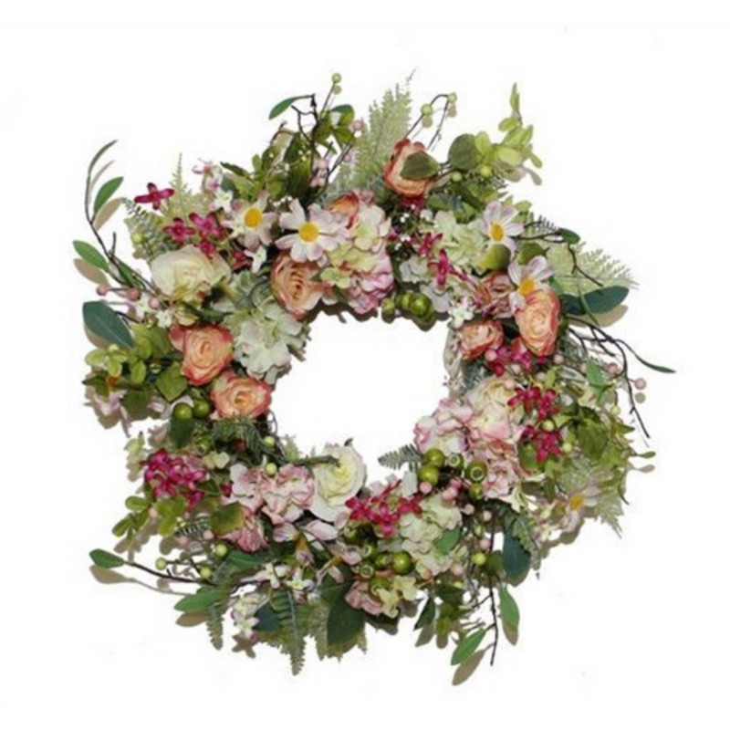 Blush Garden Floral Wreath 65cm