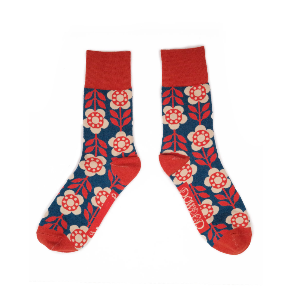 Men's Socks Flower Power - Denim