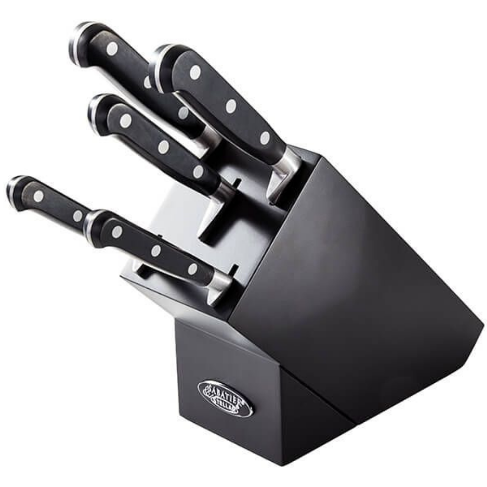 Sabatier 5 Piece Knife Black Block Set