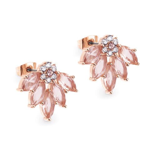Maureen O Hara Fan Rose Gold Earrings