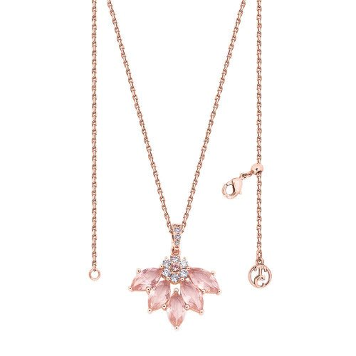 Maureen O Hara Fan Rose Gold Pendant