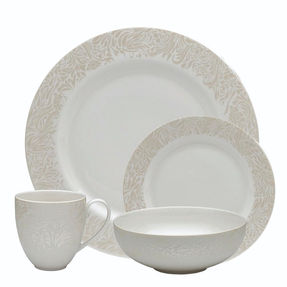 Monsoon Lucille Gold 16 Piece Dinner Set