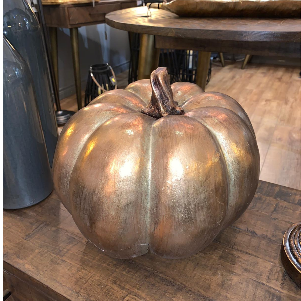 "12"" Gold Pumpkin"