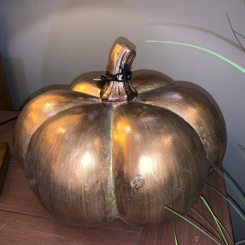 "11"" Gold Pumpkin"