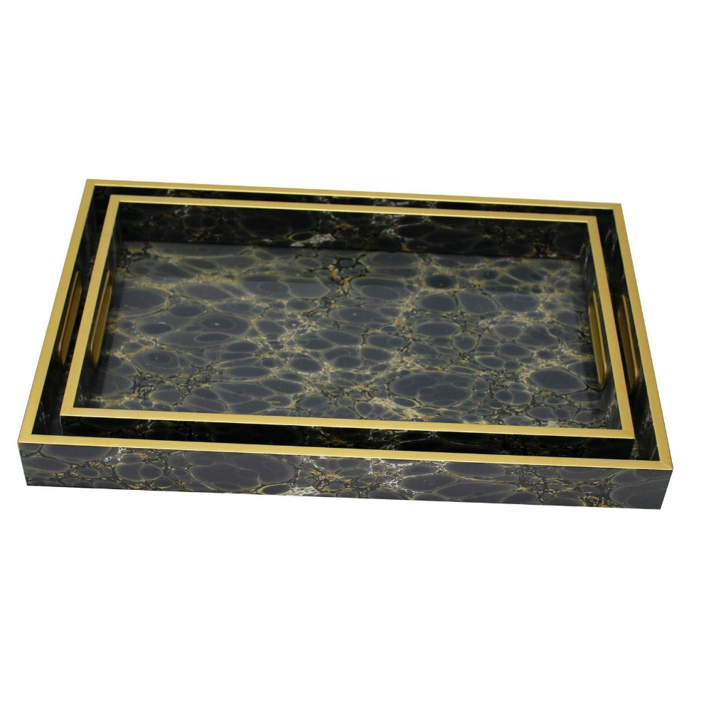 Serving Tray Set Of 2, Deep Blue