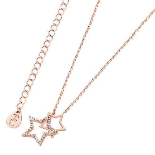 Star Interlocking Pendant Rose Gold