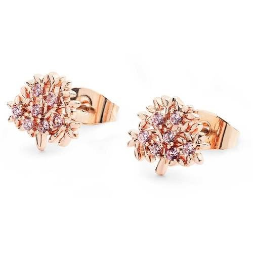 Rose Gold Tol Earrings with Czs