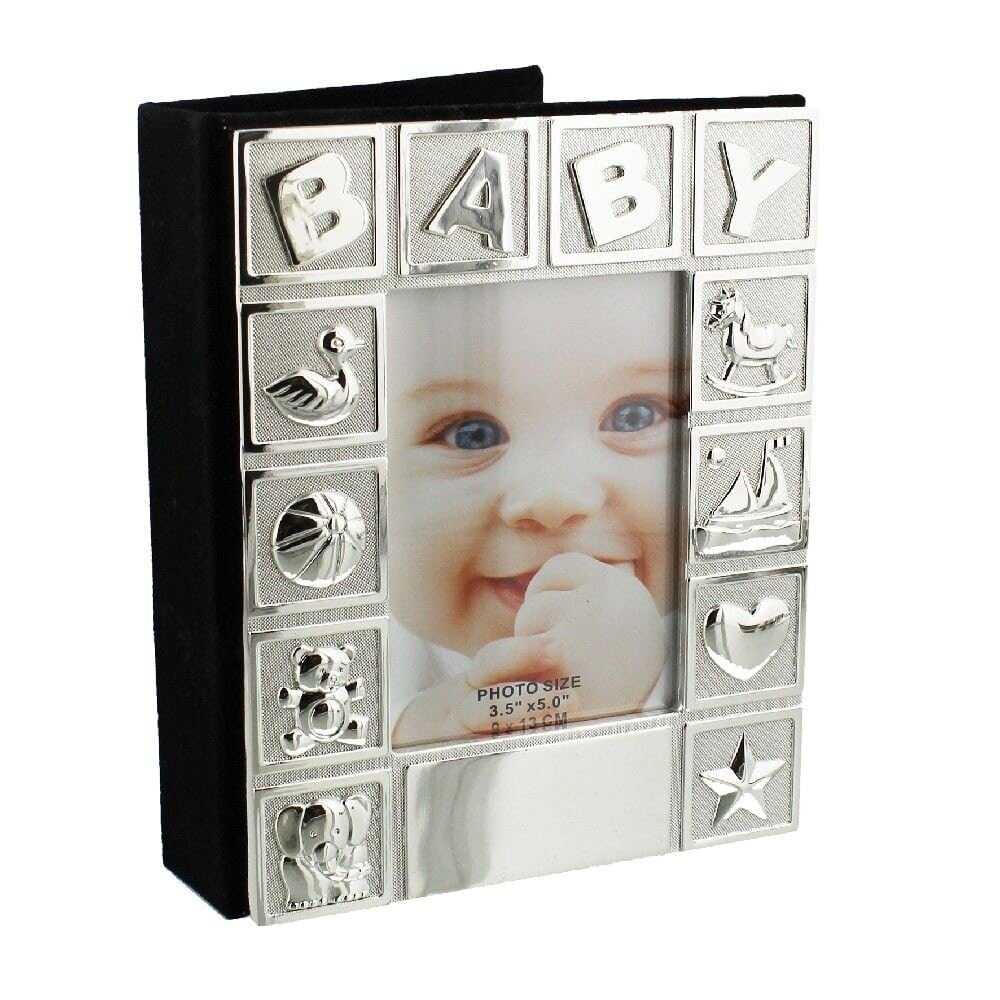 Silverplated Baby Photo Frame and Album
