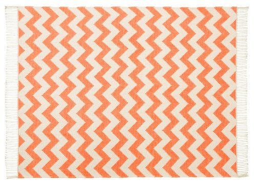 Ziggy Throw 127x178cm, Orange/ Grey