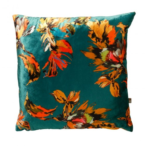 Adriana cushion teal, scatter box