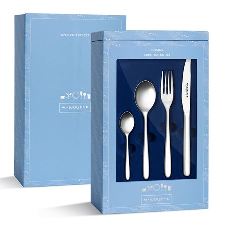 Chandra Stainless Steel Cutlery Gift Set, 24pce