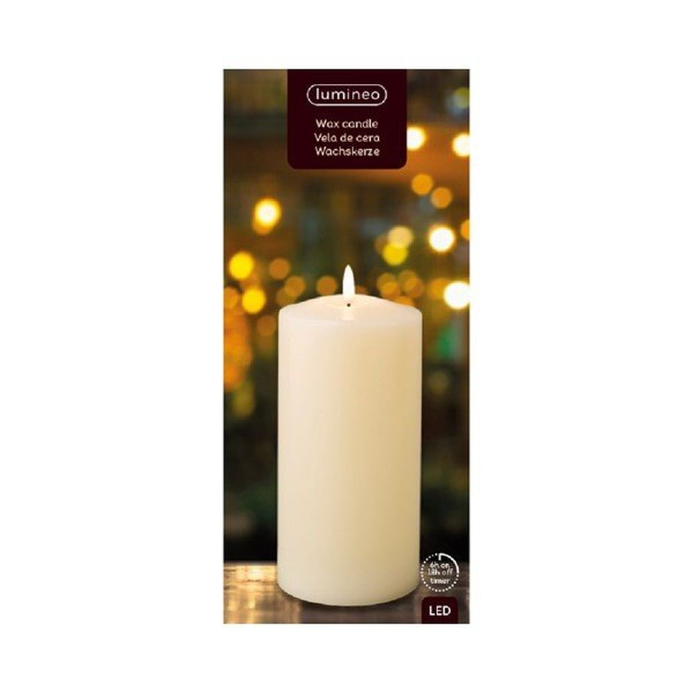 Battery operated LED Wax Church Candle