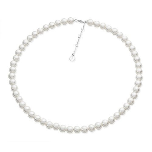 Silver String Pearl Necklace