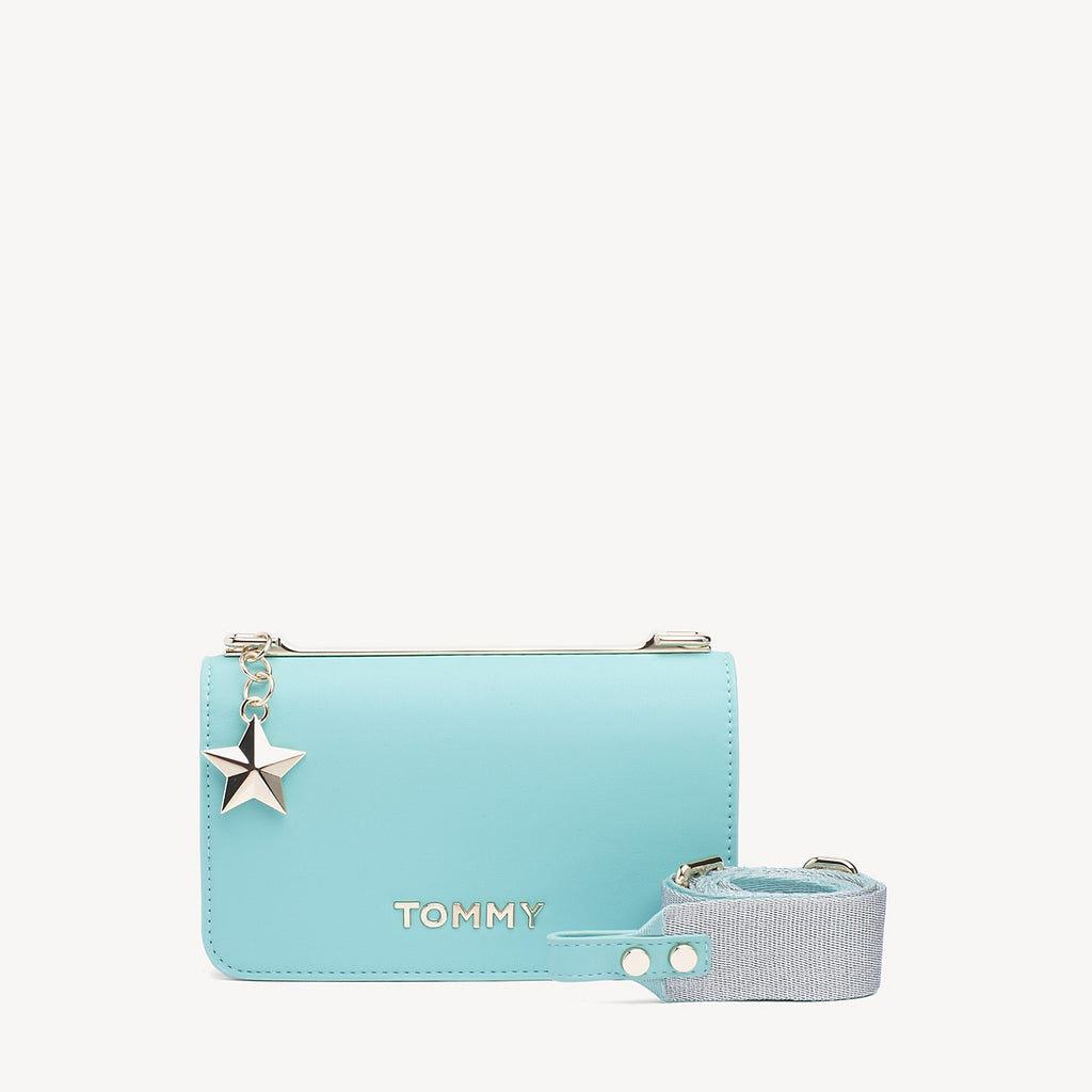 Tommy Hilfiger sporty crossbody, aqua haze