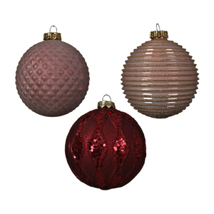 Decorative Christmas Bauble, Blush/Pink