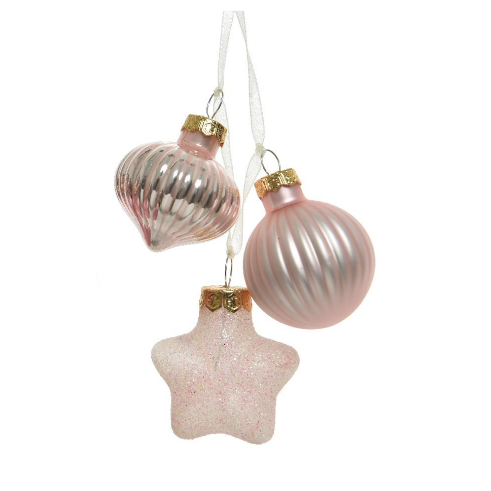 christmas decorations set of 3