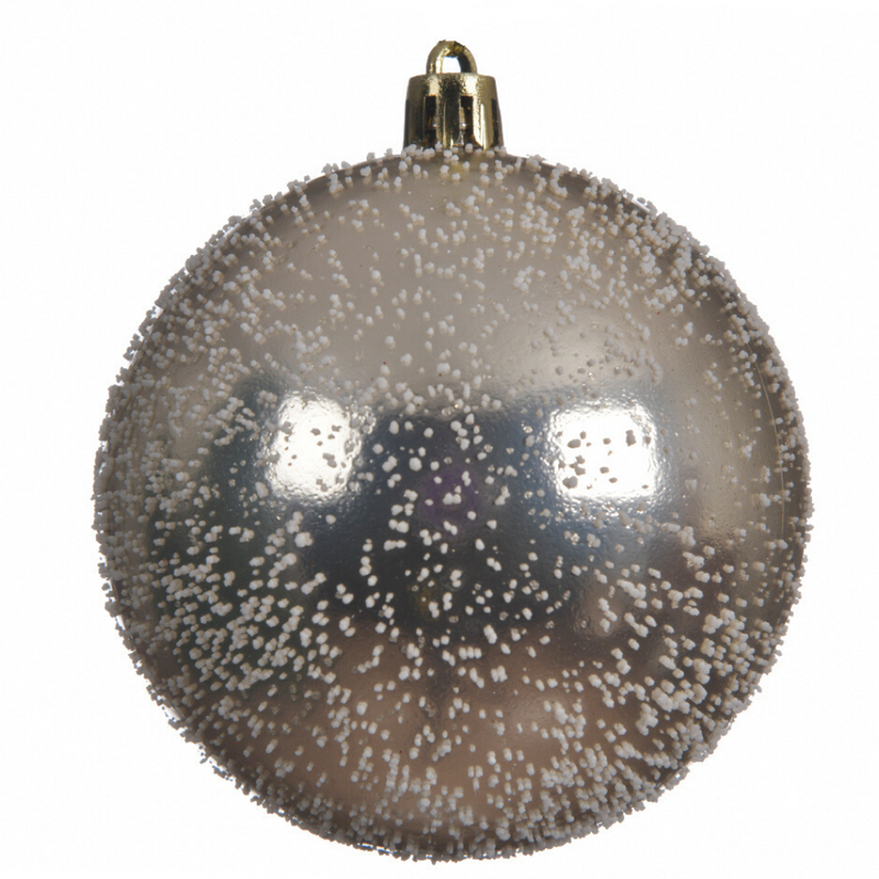 Speckled Champagne Christmas Bauble