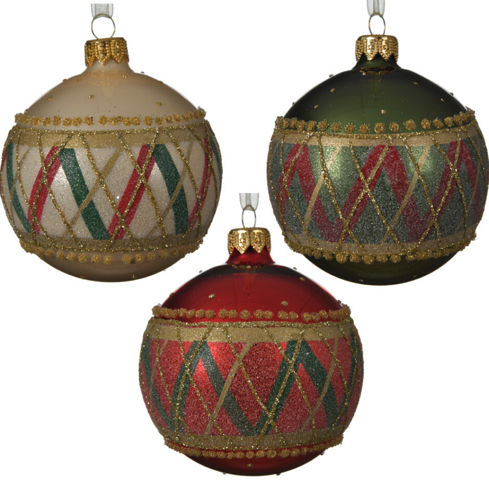 Checkered Christmas Bauble