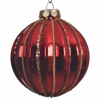 Red/ Gold Christmas Bauble